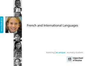 French and International Languages
