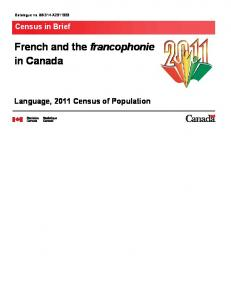 French and the francophonie in Canada