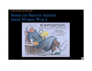 French Posters from World War I INDEX OF FRENCH ARTISTS FROM WORLD WAR I