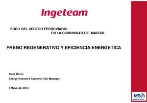FRENO REGENERATIVO Y EFICIENCIA ENERGETICA