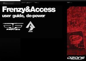 Frenzy&Access. user guide, de-power