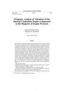 Frequency Analysis of Vibrations of the Internal Combustion Engine Components in the Diagnosis of Engine Processes