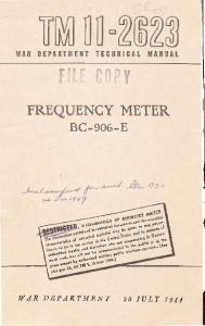 FREQUENCY METER BC-906-E