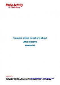 Frequent asked questions about DMR systems
