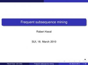 Frequent subsequence mining