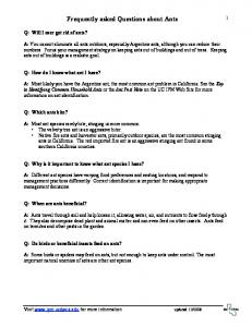 Frequently asked Questions about Ants