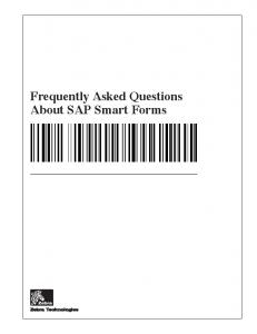 Frequently Asked Questions About SAP Smart Forms