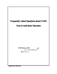 Frequently Asked Questions about TABE