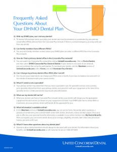 Frequently Asked Questions About Your DHMO Dental Plan