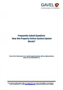 Frequently Asked Questions How the Property Online Auction System Works?