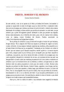 FREUD, BORGES Y EL SECRETO