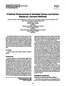 Frictional Performances of Activated Carbon and Carbon Blacks as Lubricant Additives