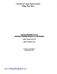 Friends of Local Government Policy Paper Series