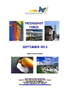 FRIENDSHIP FORCE SEPTEMBER 2013