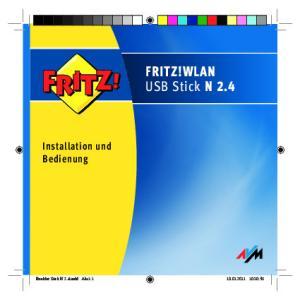 FRITZ!WLAN USB Stick N 2.4. Installation und Bedienung