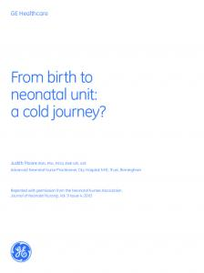 From birth to neonatal unit: a cold journey?