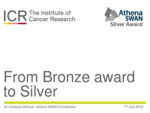From Bronze award to Silver