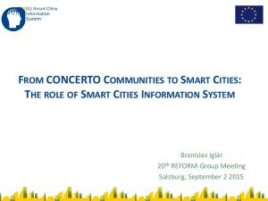 FROM CONCERTO COMMUNITIES TO SMART CITIES: THE ROLE OF SMART CITIES INFORMATION SYSTEM