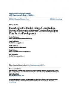 From Contest to Market Entry: A Longitudinal Survey of Innovation Barriers Constraining Open Data Service Development