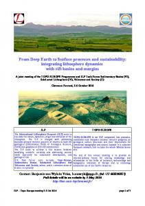From Deep Earth to Surface processes and sustainability: integrating lithosphere dynamics with rift basins and margins