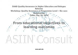 From educational objectives to