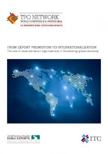 FROM EXPORT PROMOTION TO INTERNATIONALIZATION