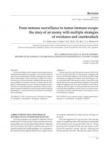 From immune surveillance to tumor-immune escape: the story of an enemy with multiple strategies of resistance and counterattack