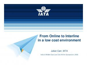 From Online to Interline in a low cost environment