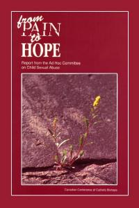 FROM PAIN TO HOPE REPORT FROM THE CCCB AD HOC COMMITTEE ON CHILD SEXUAL ABUSE