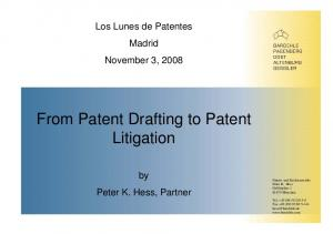 From Patent Drafting to Patent Litigation