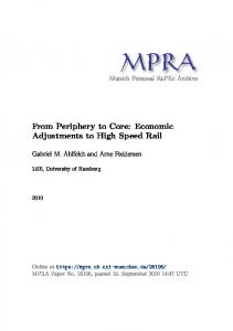 From Periphery to Core: Economic Adjustments to High Speed Rail