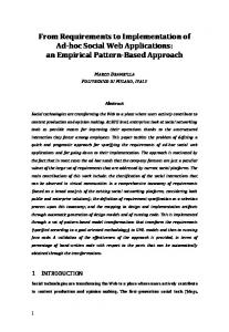 From Requirements to Implementation of Ad-hoc Social Web Applications: an Empirical Pattern-Based Approach