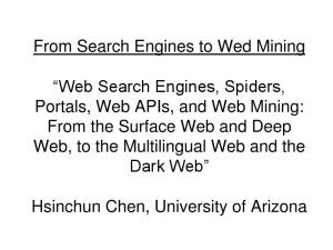 From Search Engines to Wed Mining