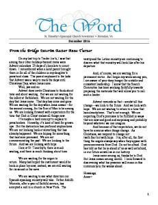 From the Bridge Interim Rector Anne Turner