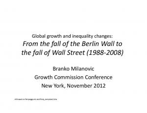 From the fall of the Berlin Wall to the fall of Wall Street ( )