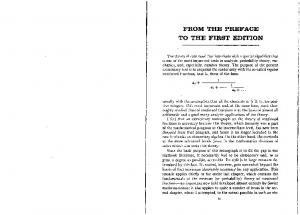 FROM THE PREFACE TO THE FIRST EDITION