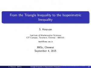 From the Triangle Inequality to the Isoperimetric Inequality