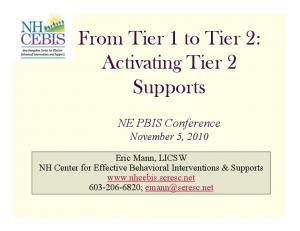 From Tier 1 to Tier 2: Activating Tier 2 Supports