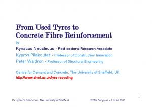 From Used Tyres to Concrete Fibre Reinforcement