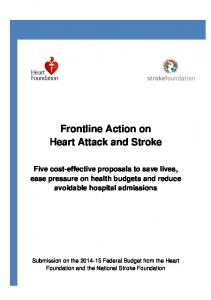 Frontline Action on Heart Attack and Stroke
