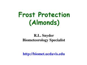 Frost Protection (Almonds)