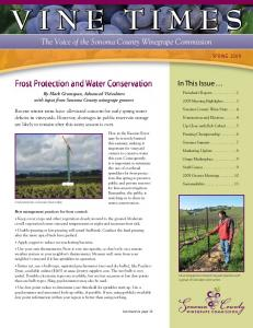 Frost Protection and Water Conservation