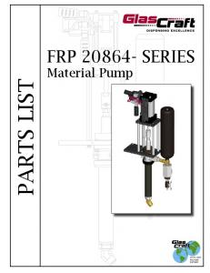 FRP SERIES PARTS LIST. Material Pump