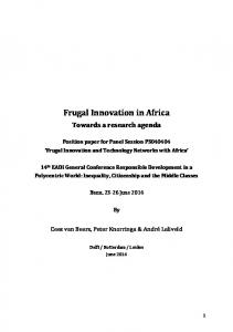 Frugal Innovation in Africa