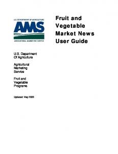 Fruit and Vegetable Market News User Guide