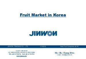 Fruit Market in Korea