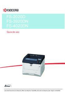 FS-2020D FS-3920DN FS-4020DN