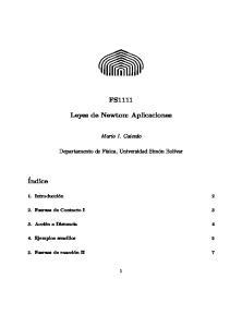 FS1111. Leyes de Newton: Aplicaciones
