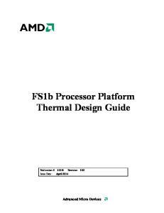FS1b Processor Platform Thermal Design Guide