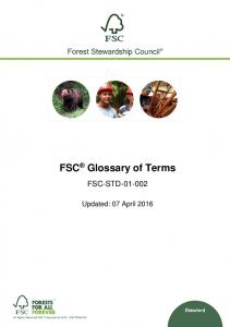 FSC Glossary of Terms